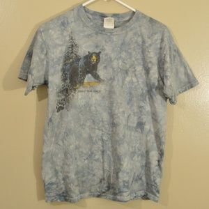 Y2K Era Oswald Bear Ranch Animal Tee Tie Dye Retro
